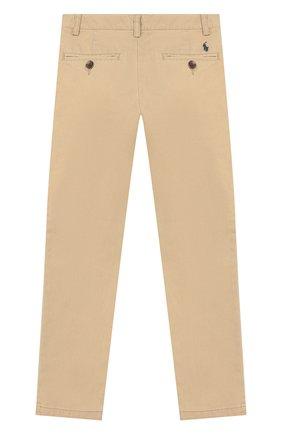 Детские хлопковые брюки POLO RALPH LAUREN бежевого цвета, арт. 322743883   Фото 2 (Материал внешний: Хлопок)