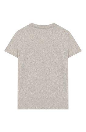 Детская хлопковая футболка POLO RALPH LAUREN серого цвета, арт. 322712330 | Фото 2