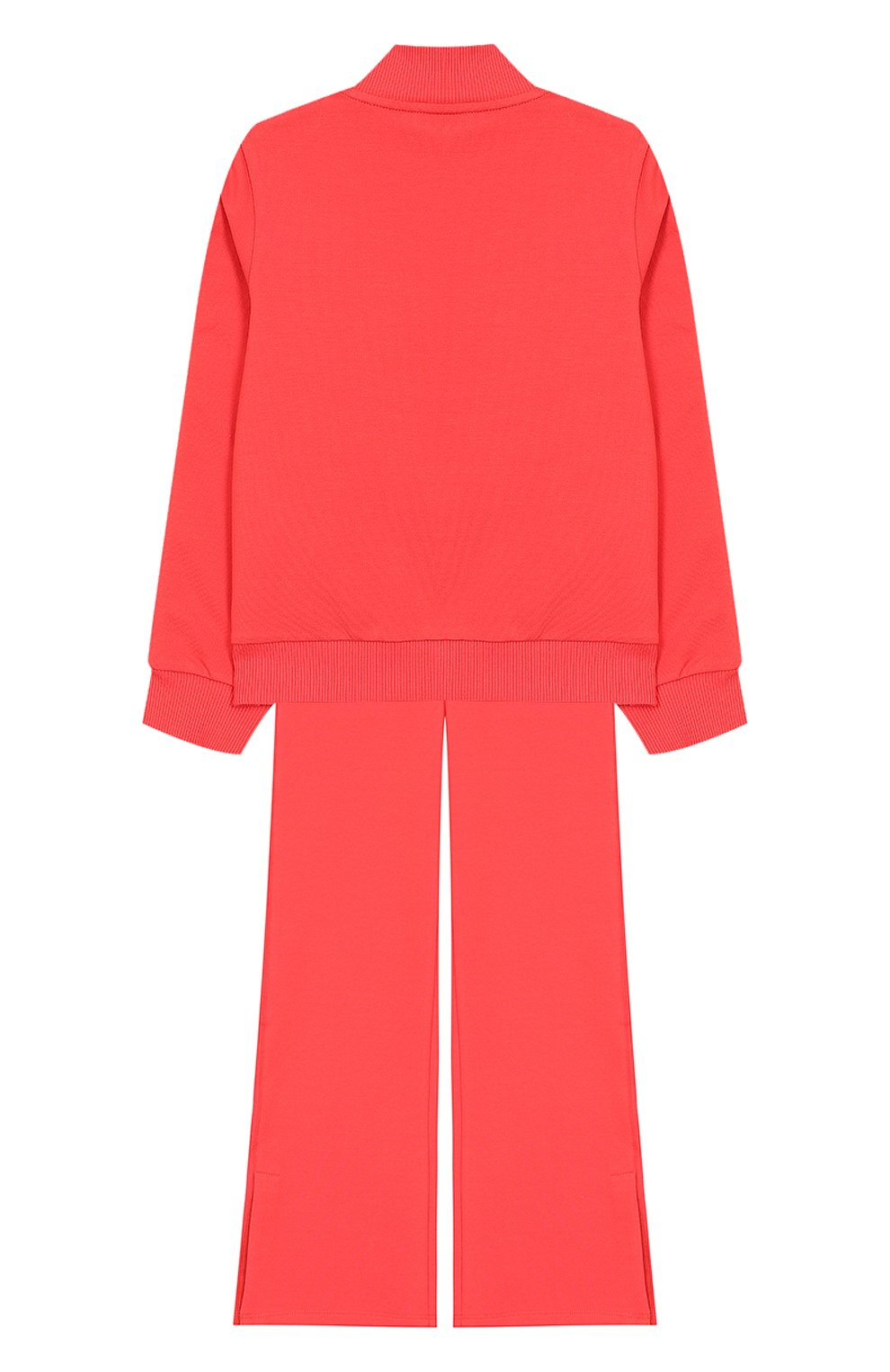 Комплект из хлопкового кардигана и брюк Moncler Enfant розового цвета | Фото №2