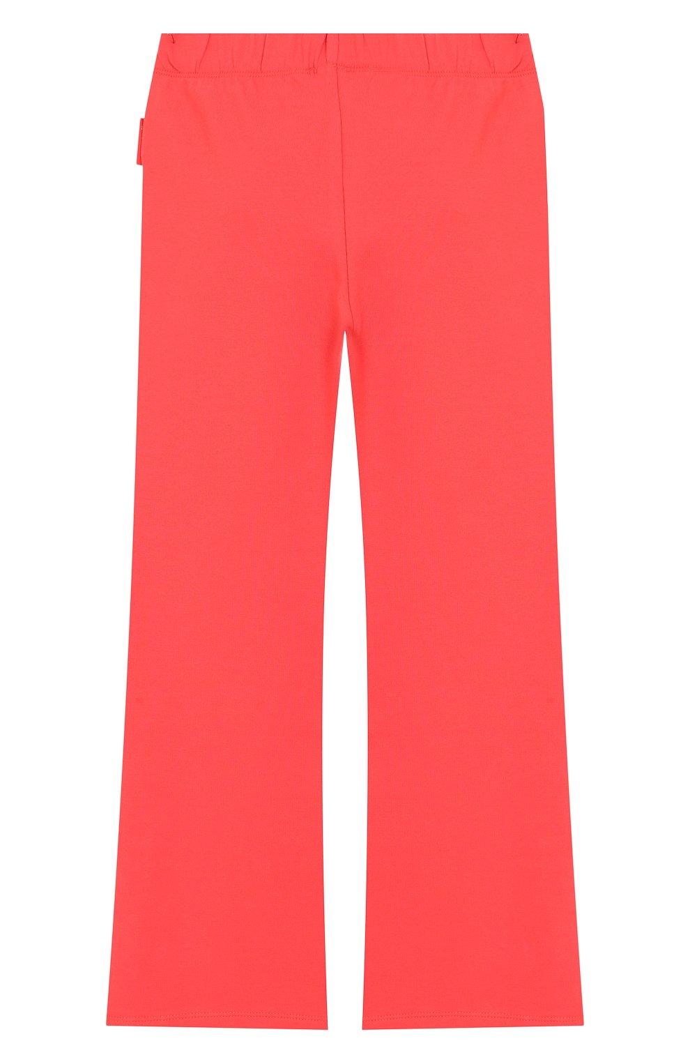 Комплект из хлопкового кардигана и брюк Moncler Enfant розового цвета | Фото №4