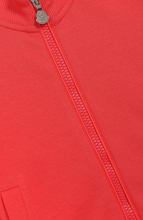 Комплект из хлопкового кардигана и брюк Moncler Enfant розового цвета | Фото №5