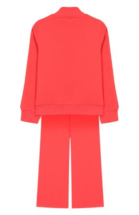 Детская комплект из хлопкового кардигана и брюк MONCLER ENFANT розового цвета, арт. E1-954-88580-05-809AC/4-6A | Фото 2
