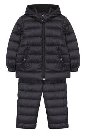 Детский комплект из куртки и комбинезона MONCLER ENFANT синего цвета, арт. E1-951-70340-05-53048 | Фото 1