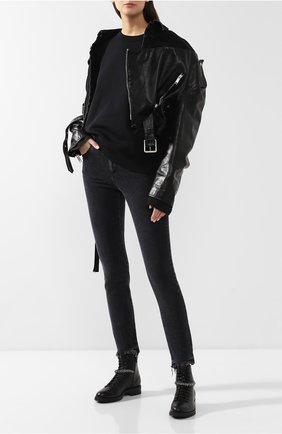 Женские кожаные ботинки cruz flat  JIMMY CHOO черного цвета, арт. CRUZ FLAT/GTC | Фото 2