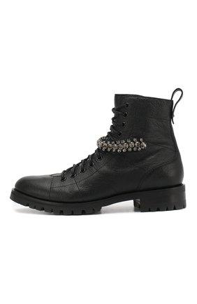 Женские кожаные ботинки cruz flat  JIMMY CHOO черного цвета, арт. CRUZ FLAT/GTC | Фото 3
