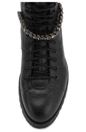 Женские кожаные ботинки cruz flat  JIMMY CHOO черного цвета, арт. CRUZ FLAT/GTC | Фото 5