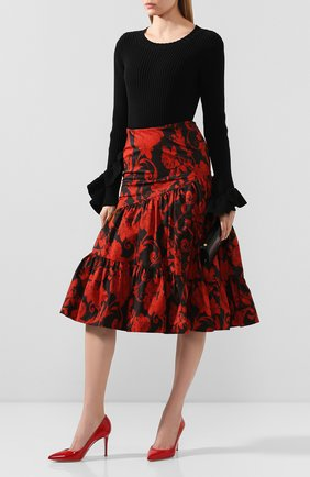 Женская кожаные туфли gianvito 85 GIANVITO ROSSI красного цвета, арт. G24580.85RIC.VERTABS | Фото 2