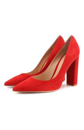 Женская замшевые туфли piper 105 GIANVITO ROSSI красного цвета, арт. G21241.15RIC.CAMTABS | Фото 1