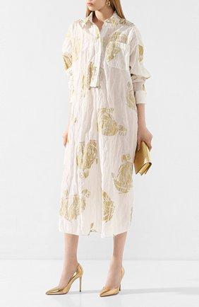 Женская кожаные туфли gianvito 105 GIANVITO ROSSI золотого цвета, арт. G28470.15RIC.NPSMEK0   Фото 2