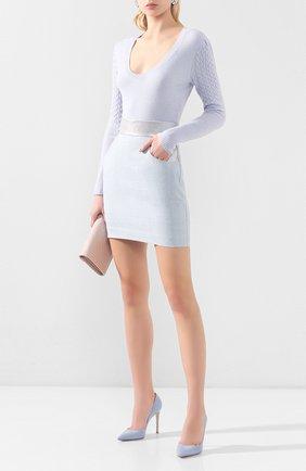 Женская замшевые туфли gianvito 105 GIANVITO ROSSI голубого цвета, арт. G28470.15RIC.CAMST0W | Фото 2