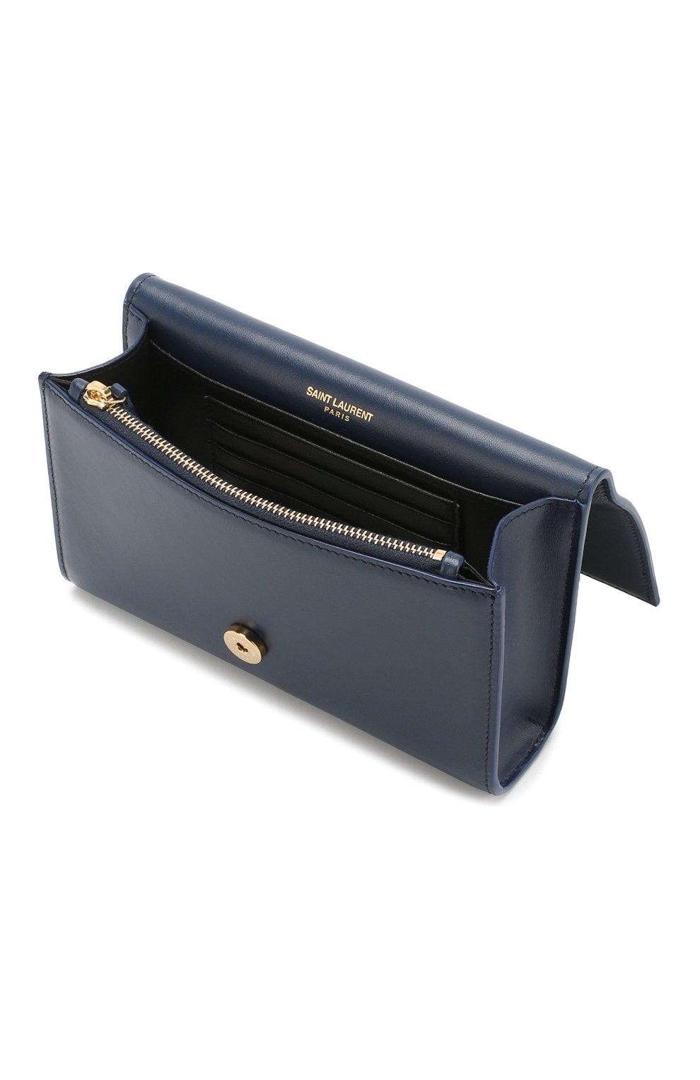 Поясная сумка Monogram Kate Saint Laurent синяя | Фото №3