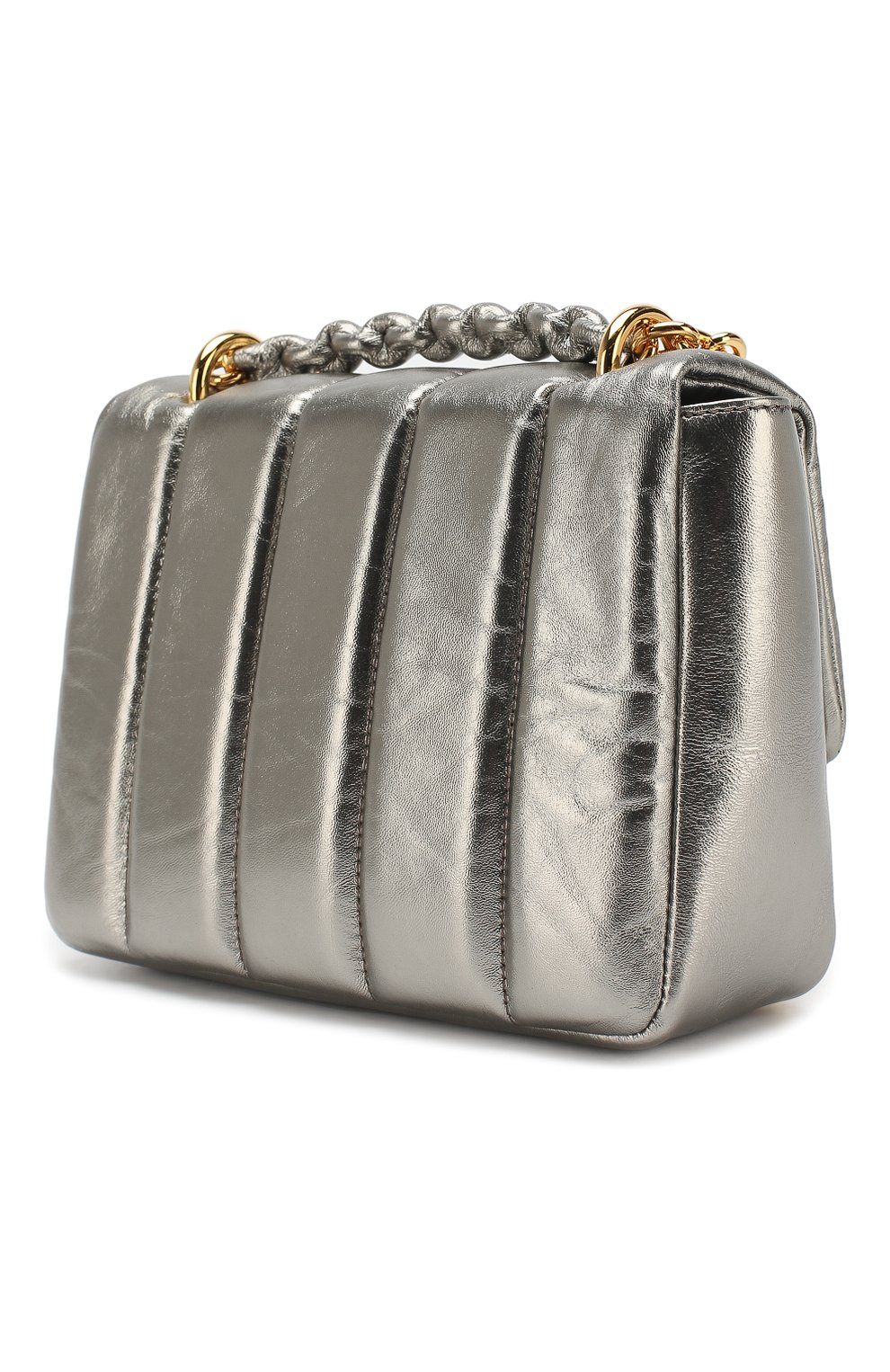 Сумка Natalia Soft medium Tom Ford серебряная цвета   Фото №3