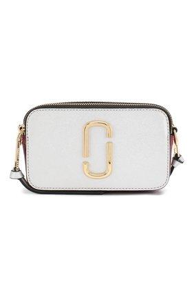 Женская сумка snapshot small MARC JACOBS (THE) серебряного цвета, арт. M0012007 | Фото 1