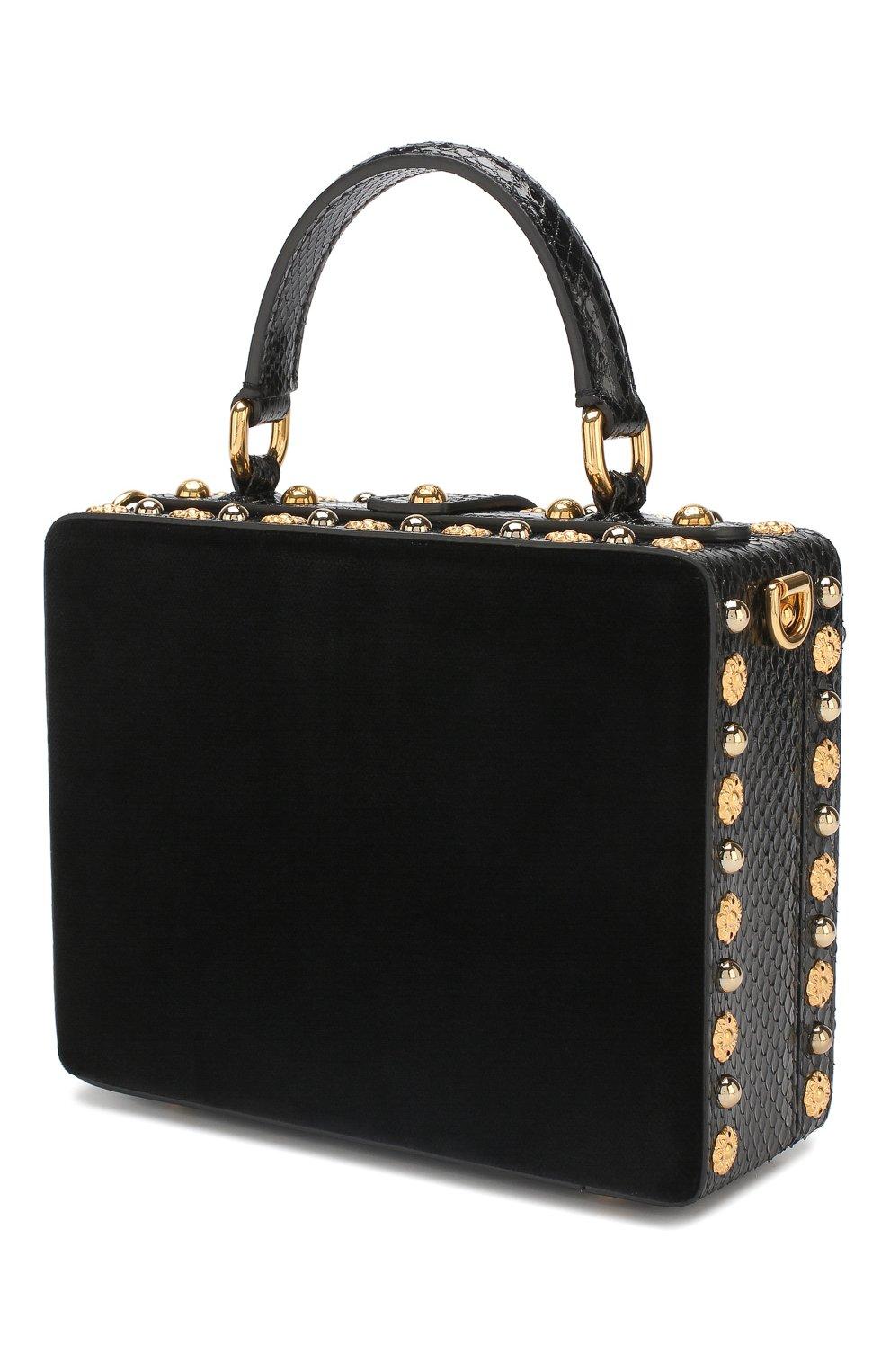 Сумка Dolce Box Dolce & Gabbana черного цвета   Фото №3