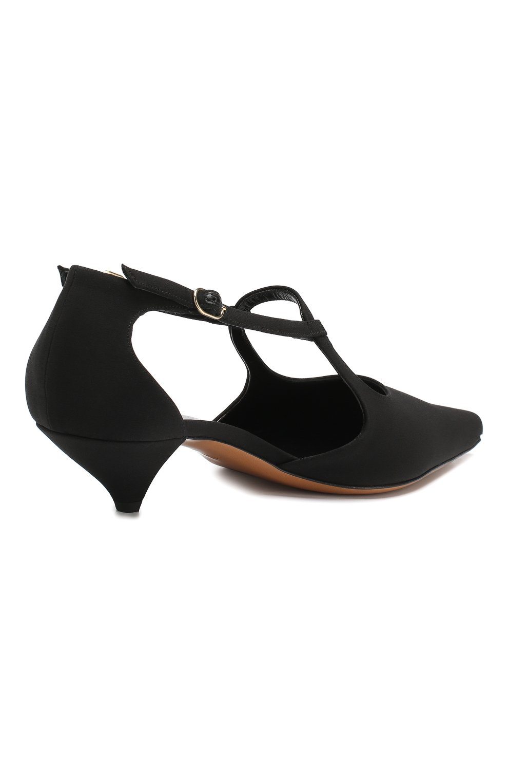 Замшевые туфли Bourgeoise  The Row черные | Фото №4
