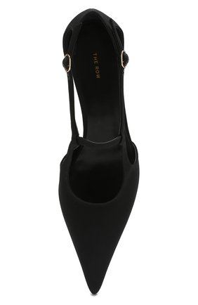 Замшевые туфли Bourgeoise  The Row черные | Фото №5