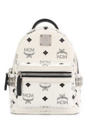 Женский рюкзак stark micro MCM белого цвета, арт. MMK 6SVE92 | Фото 1