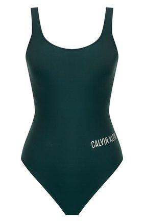 Слитный купальник с логотипом бренда | Фото №1