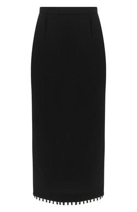 Женская шерстяная юбка-карандаш ROLAND MOURET черного цвета, арт. PS19/S4134/F0248   Фото 1