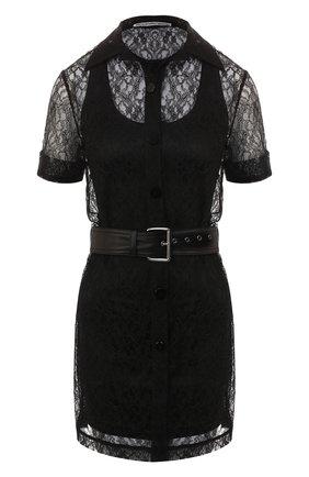 Кружевное платье с поясом | Фото №1