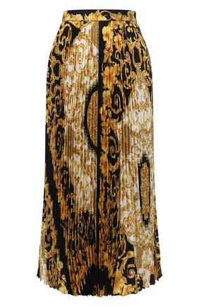 Шелковая юбка с принтом   Фото №1