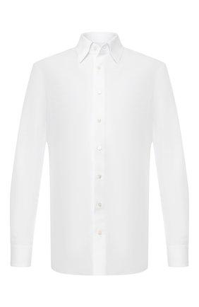 Мужская сорочка из смеси хлопка и льна ZILLI белого цвета, арт. MFR-01190-MERCU/RZ01 | Фото 1