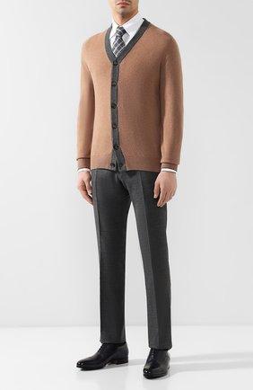 Мужская сорочка из смеси хлопка и льна ZILLI белого цвета, арт. MFR-01190-MERCU/RZ01 | Фото 2