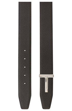 Мужской кожаный ремень  TOM FORD коричневого цвета, арт. TB178P-CL8 | Фото 2