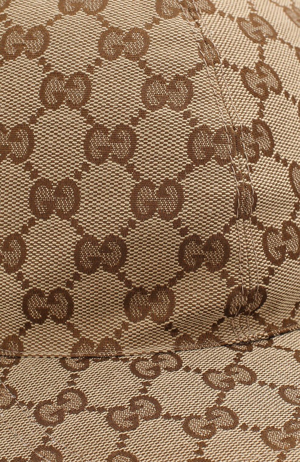 Мужской бейсболка с принтом original gg GUCCI бежевого цвета, арт. 200035/KQWBG | Фото 3