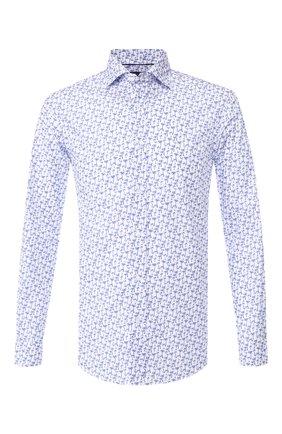 Мужская хлопковая сорочка с воротником кент RALPH LAUREN белого цвета, арт. 790730899 | Фото 1