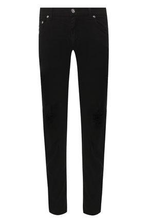 Джинсы прямого кроя Dolce & Gabbana черные | Фото №1