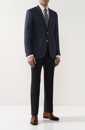 Мужские кожаные оксфорды KITON коричневого цвета, арт. USSDARIN00101 | Фото 2