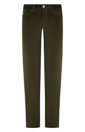 Мужские брюки из смеси хлопка и кашемира LORO PIANA хаки цвета, арт. FAI6011   Фото 1