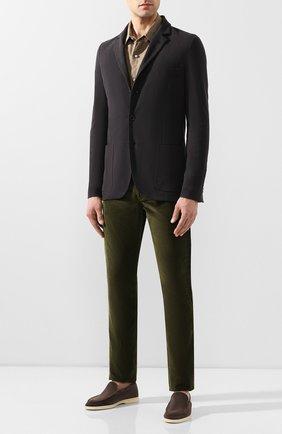 Мужские брюки из смеси хлопка и кашемира LORO PIANA хаки цвета, арт. FAI6011   Фото 2