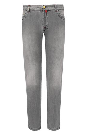 Мужские джинсы прямого кроя KITON светло-серого цвета, арт. UPNJS/J07R53 | Фото 1