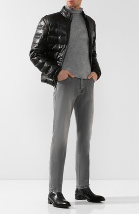 Мужские джинсы прямого кроя KITON светло-серого цвета, арт. UPNJS/J07R53 | Фото 2