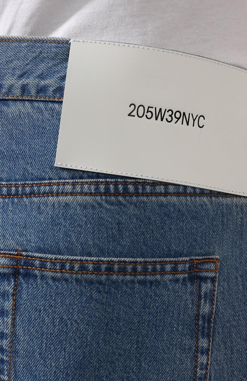 Джинсы прямого кроя CALVIN KLEIN 205W39NYC синие | Фото №5