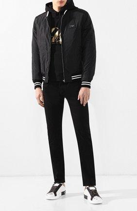 Джинсы прямого кроя Dolce & Gabbana черные | Фото №2