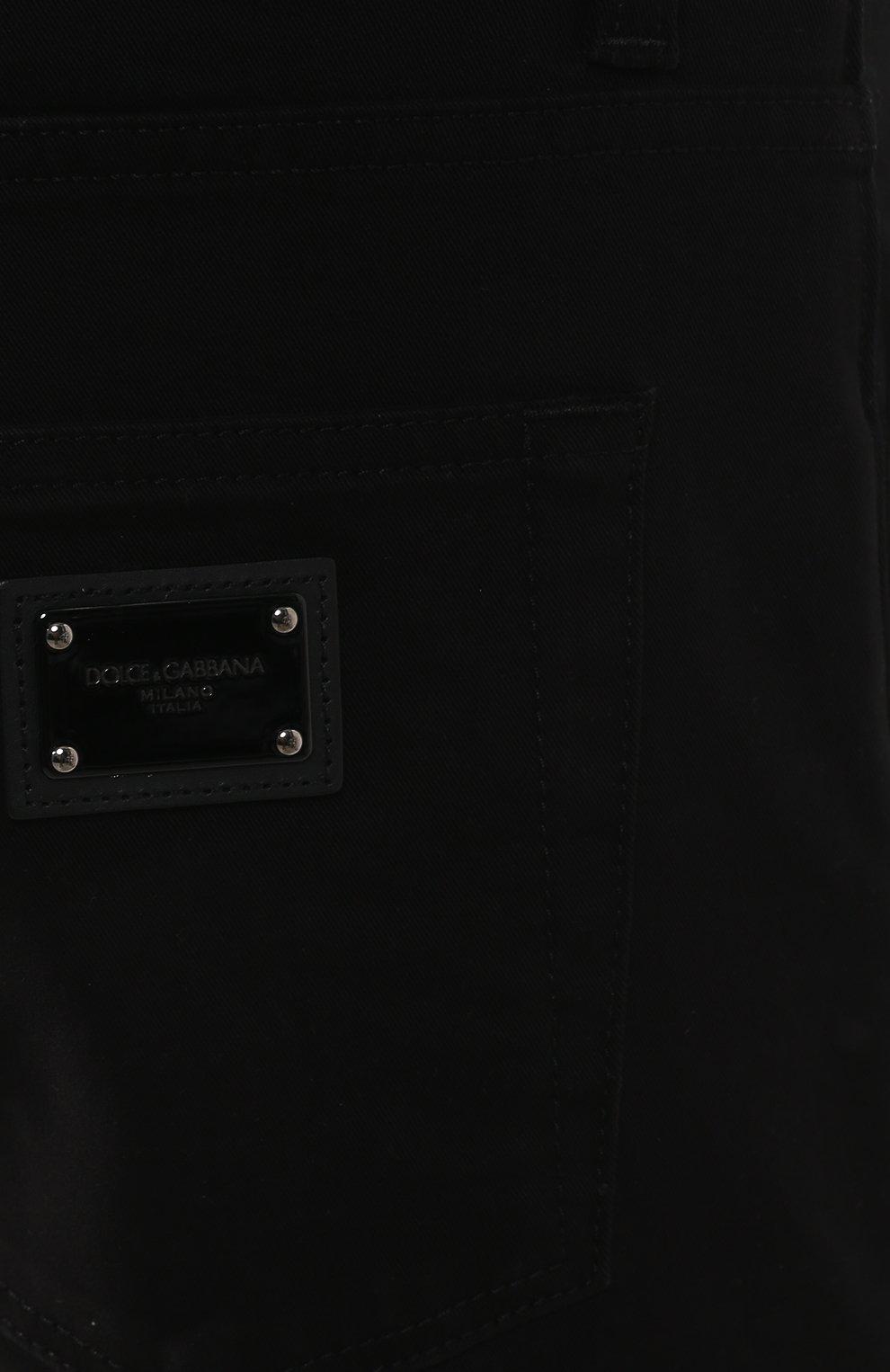 Джинсы прямого кроя Dolce & Gabbana черные | Фото №5