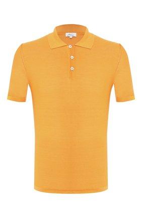 Мужское шелковое поло BRIONI оранжевого цвета, арт. UMER0L/P8K08 | Фото 1