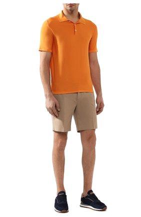 Мужское шелковое поло BRIONI оранжевого цвета, арт. UMER0L/P8K08 | Фото 2