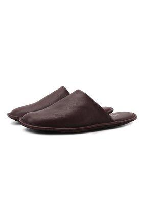 Мужского домашние кожаные туфли HOMERS AT HOME бордового цвета, арт. 12045/BUFALIN0 | Фото 1