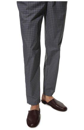 Мужского домашние кожаные туфли HOMERS AT HOME бордового цвета, арт. 12045/BUFALIN0   Фото 3