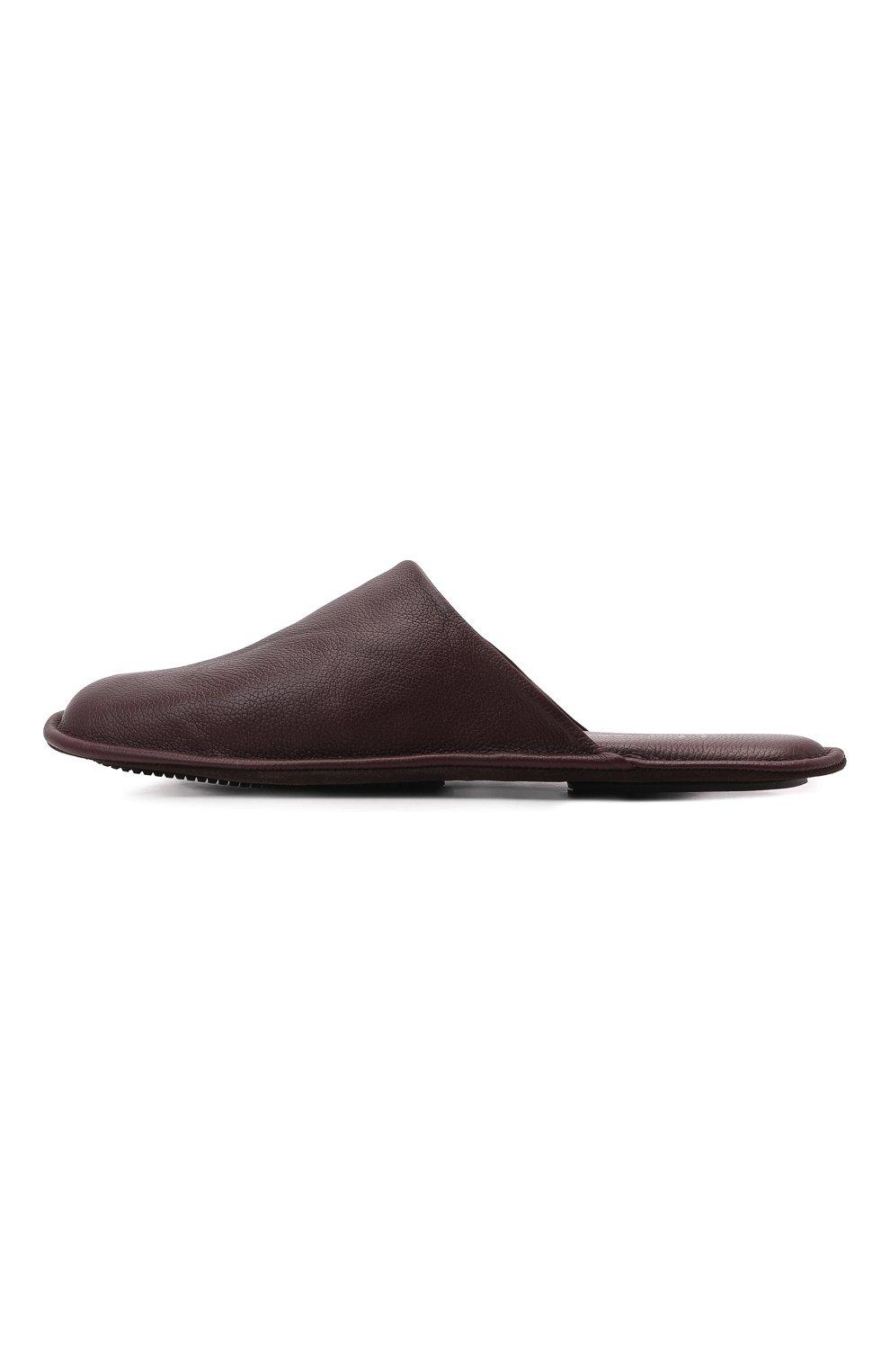 Мужского домашние кожаные туфли HOMERS AT HOME бордового цвета, арт. 12045/BUFALIN0   Фото 4