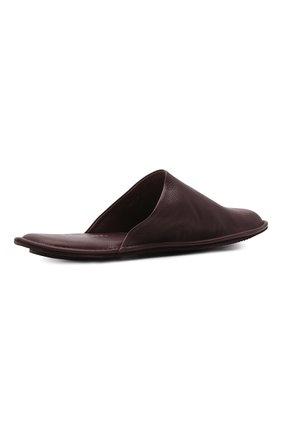 Мужского домашние кожаные туфли HOMERS AT HOME бордового цвета, арт. 12045/BUFALIN0   Фото 5