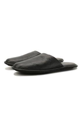 Мужского домашние кожаные туфли HOMERS AT HOME темно-синего цвета, арт. 12045/BUFALIN0 | Фото 1
