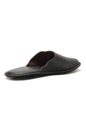 Мужского домашние кожаные туфли HOMERS AT HOME темно-синего цвета, арт. 12045/BUFALIN0 | Фото 5