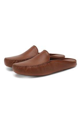 Мужского домашние кожаные туфли HOMERS AT HOME коричневого цвета, арт. 12511/SEDACALF | Фото 1