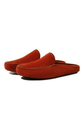 Мужского домашние замшевые туфли HOMERS AT HOME коричневого цвета, арт. 12511F/CR0STA | Фото 1