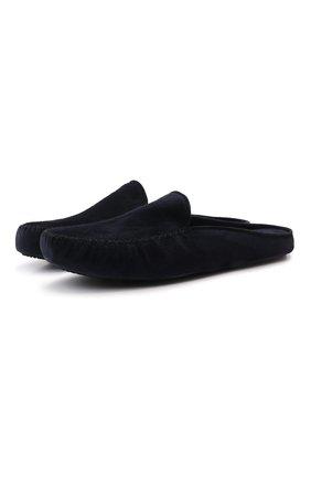 Мужского домашние замшевые туфли HOMERS AT HOME темно-синего цвета, арт. 12511F/CR0STA | Фото 1